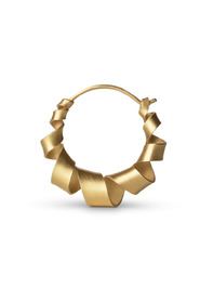 Small Curly Hoop, gold-plated sterling silver