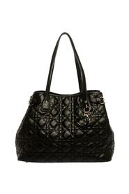 Pre-owned Black Cannage Coated Canvas Small Panarea Tote
