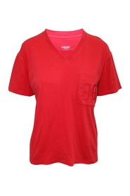 Red V-neckline T-Shirt