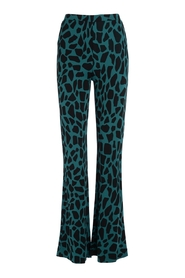 Pantalone a zampa con stampa giraffa