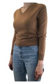 langermet genser med v -hals