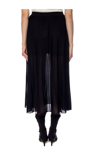 Black Skirt With Pleats Sonia Rykiel Midikjolar