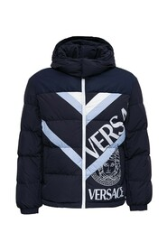 DOWN JACKET WITH LOGO PRINT