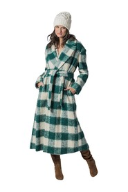 MAXI VICHY COAT WITH BELT