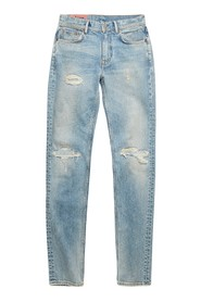 NORTH BLUE PATCHED UP DENIM