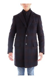 CORNELIANI 841Z15-9862321 Overcoat Men BLUE