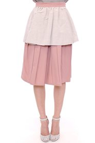 Knee-Length Pleated Skirt