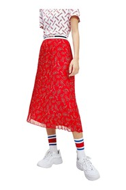 TOMMY JEANS DW0DW08080 PLEATED SKIRT SKIRT Women RED