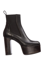 women's leather heel ankle boots booties KISS