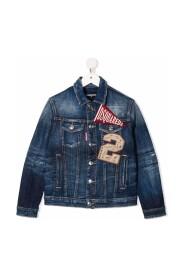 TEEN logo patch denim jacket