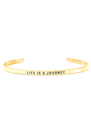 Armring med tekst - LIFE IS A JOURNEY - 7437
