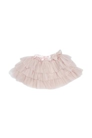 Pettiskirt layered with bow ballet pink