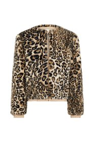 Jas faux fur panter