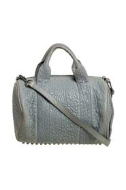Pebbled Leather Rocco Duffle Bag
