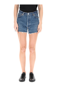 shorts in levi's denim