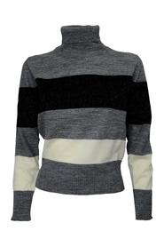 STRIPE GRAY TURTLENECK 356