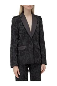 Blazer with Floral Embroidery