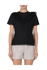 T-SHIRT WITH TULLE RUCHES