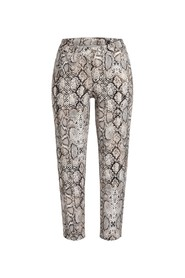 Parla Cropped Jeans Snake print