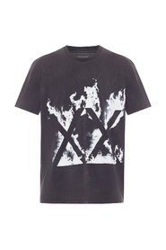 Burn printed T-shirt