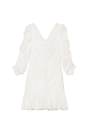 Brboderie Anglaise Rouching Dress