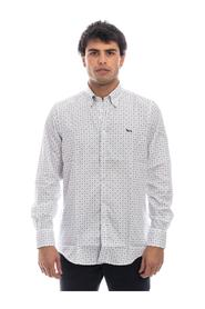 2-FABRIC SHIRT WITH INTERNAL CONTRAST BUTTON DOWN