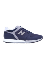 H321 sneakers in rubberized effect leather and fabric
