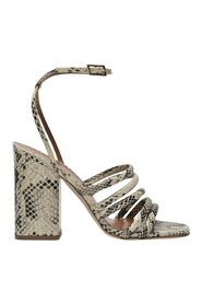 Carla Sandals in Printed Leather