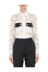 Lace Shirt with Contrast Pocket