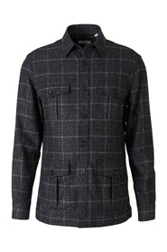 Checked Motif Wool Shirt