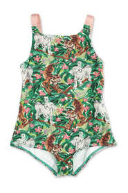 jungle print one-piece swimsuit