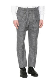 Patterned Straight Trousers