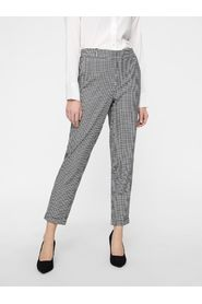 VeroModa Maya Mr Loose Check Pant SnowWhite/Black