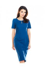 Sukienka midi z krótkim rękawem  A252