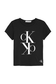 CALVIN KLEIN IG0IG00419 CROPPED T-SHIRT T SHIRT AND TANK Girl BLACK