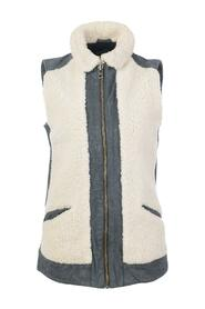 pre-owned Shearling Leather Vest Condition Very Good