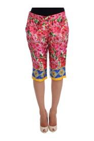 Floral Knee Capris Pants