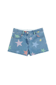 Multicolor Stars Denim Shorts