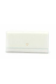Leather Long Wallet White