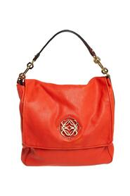 Leather Maia Anagram Flap Top Handle Bag