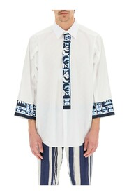 Oversized shirt with majolica inserts