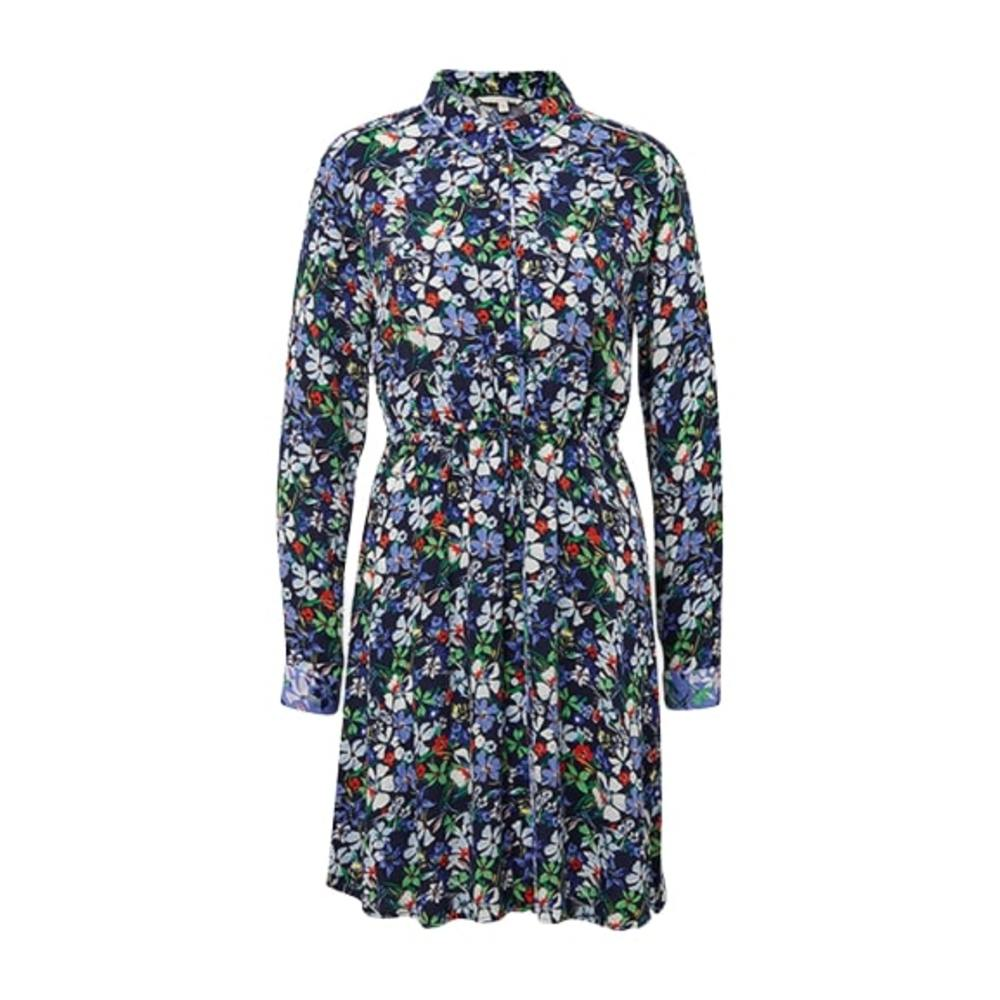 1009894 Flower Shirt Dress