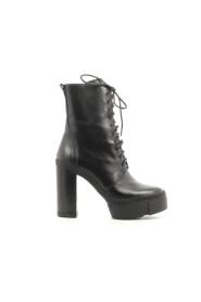 Black lace-up ankle boots 7880D