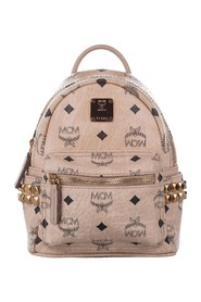 Mini Visetos Leather Backpack