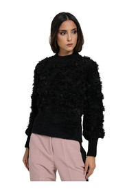 SWEATER WITH SIDE FEATHERS
