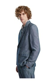 Double Breasted Suit Jacket in Japanese linen blend