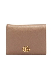 Pre-owned Leather GG Marmont Card Case