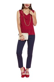 Silk top with dots
