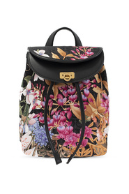 Backpack with floral motif