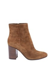 Velvet ankle boots with zipper